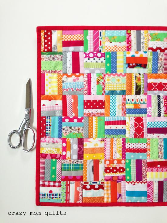 crazy mom quilts: mini rail fence quilt