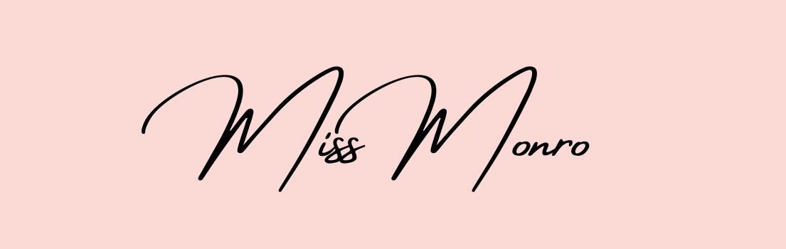Blog header from missmonro.com