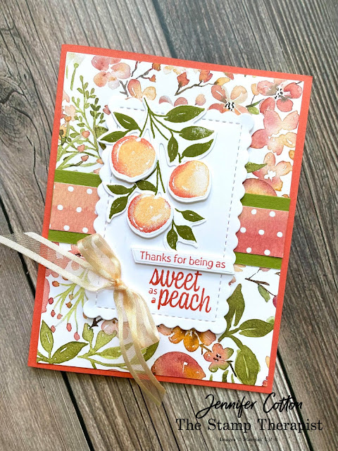 Sweet as a Peach Bundle by Stampin' Up!®.  #StampinUp #StampTherapist
