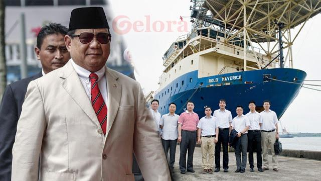 PR Menhan Prabowo, Tolak Kapal China Berlayar di Laut Indonesia