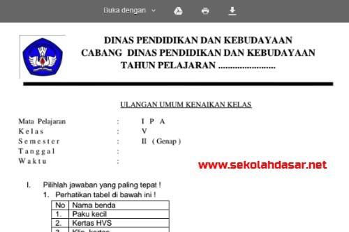 Soal Ukk Ipa Kelas 5 Beserta Kunci Jawabannya Informasi Pendidikan