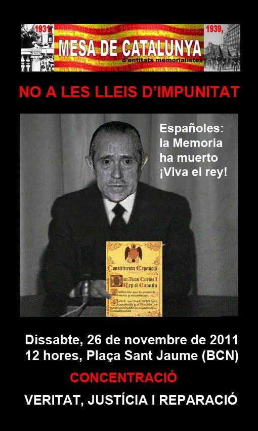 24a concentració per la veritat la justícia i la reparació, Mesa de Catalunya