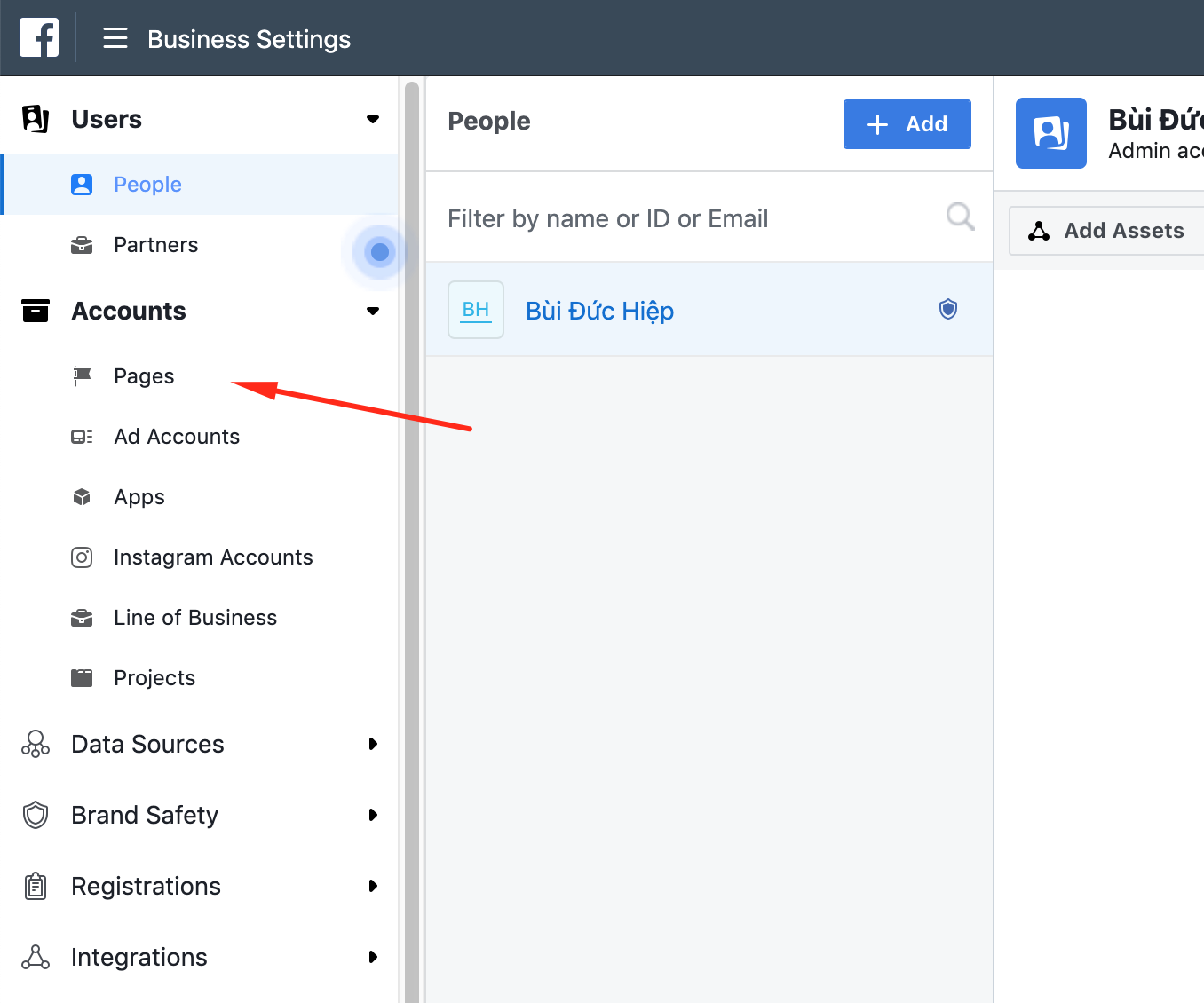 Hướng dẫn cách thêm Fanpage vào tài khoản Business Manager trên Facebook