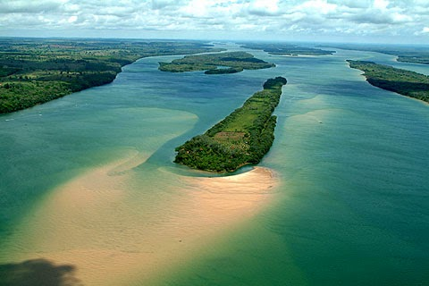 Rio Paraná no Brasil