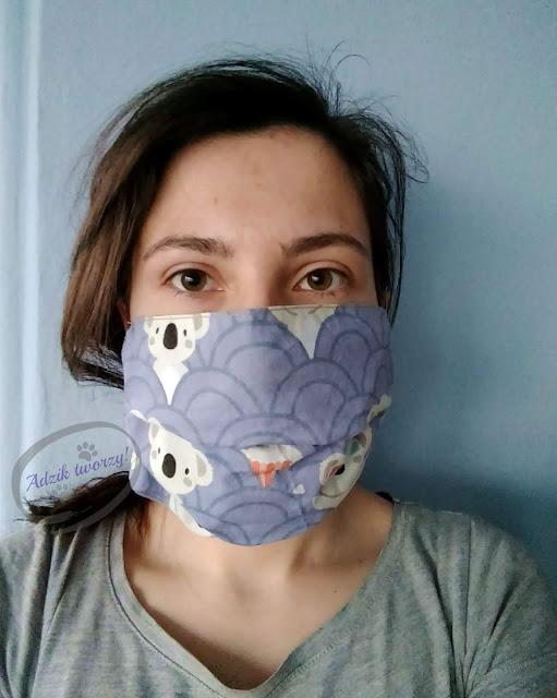 Adzik tworzy - wielorazowe maski ochronne DIY bawełniane