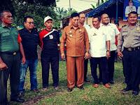 Babinsa Koramil 04/Talawi Hadiri Pembukaan Turnamen Sepak Bola Merebutkan Piala Camat Datuk Tanah Datar