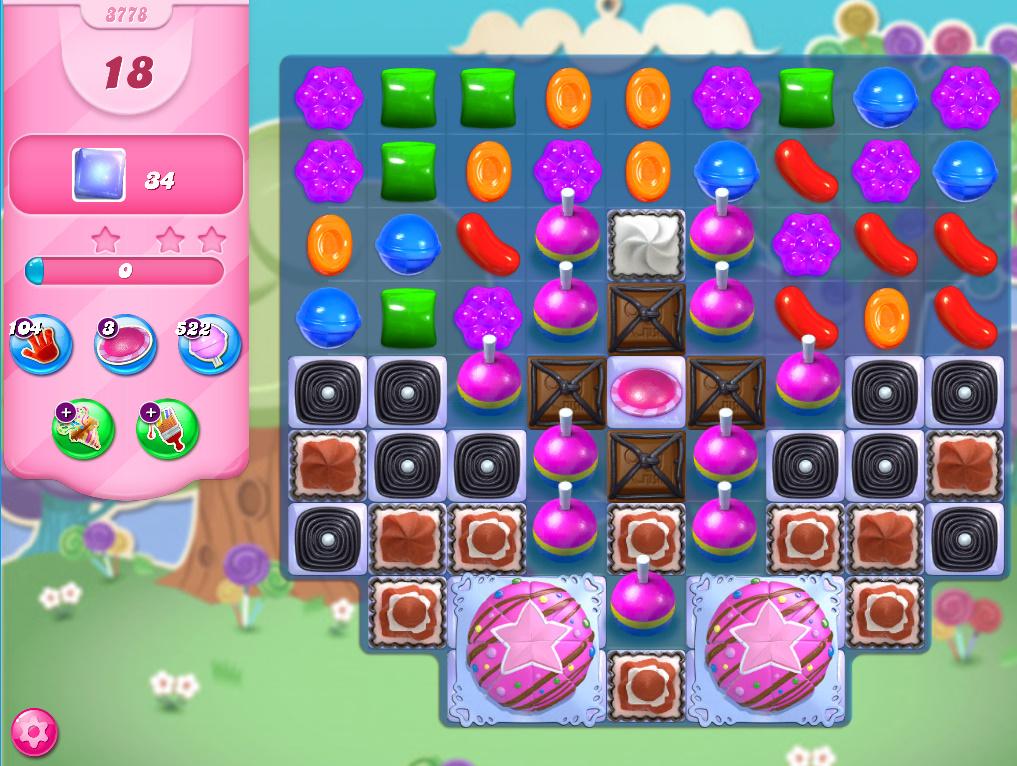 Candy Crush Saga level 3778