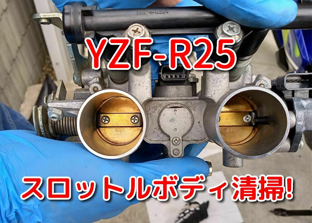 YZF-R25 スロットルボディ清掃