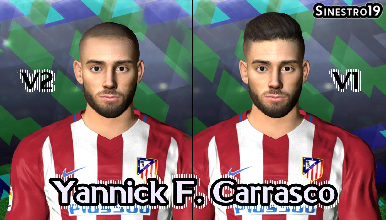 PES 2017 Yannick Carrasco Face (2 Versions) by Sinestro19