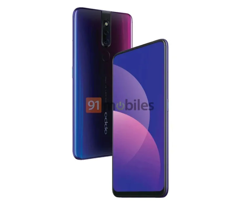 Alleged OPPO F11 Pro with pop-up selfie camera press renders spotted!