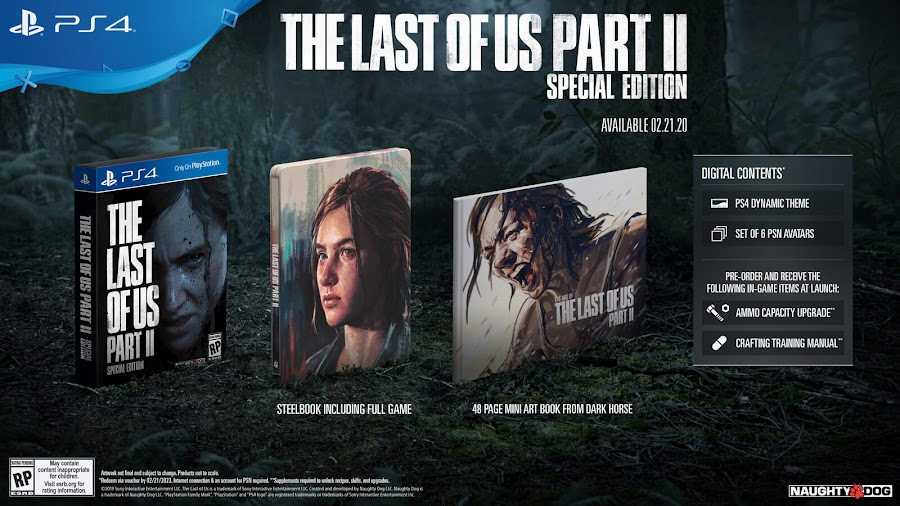 last of us part 2 special edition ps4 naughty dog sony interactive entertainment