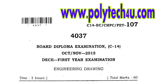 OCT-NOV-2015 ENGINEERING DRAWING QUESTION PAPER C-14 ECE