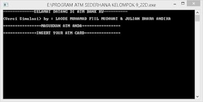 """<img src=""""https://1.bp.blogspot.com/-dBs98e-nPKE/X_Uf6P2mb6I/AAAAAAAAAMk/aJOKrlh6qYolVW4ZBhA2KcR63Gi1T8BoQCLcBGAsYHQ/w400-h203/hasil-run-program-simulasi-atm-bahasa-c.png"""" alt=""""Hasil Run Program Simulasi ATM dengan Bahasa C""""/>"""