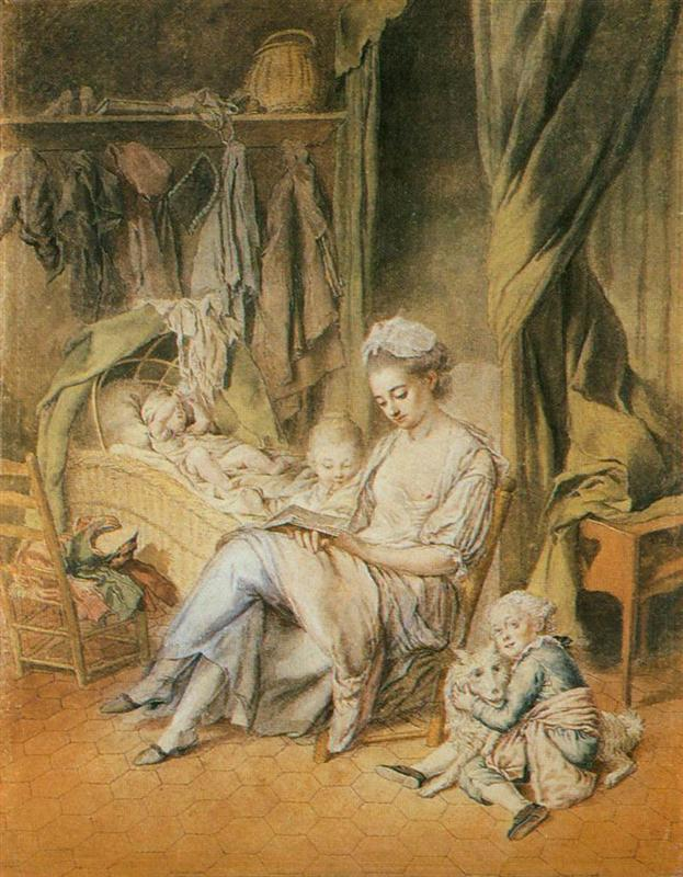 Johann Anton de Peters - Счастливая мама