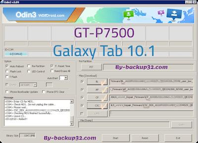 سوفت وير هاتف Galaxy Tab 10.1 موديل GT-P7500 روم الاصلاح 4 ملفات تحميل مباشر