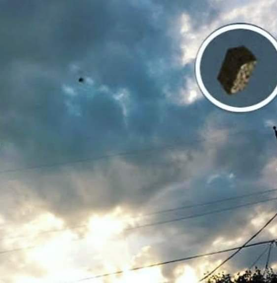 Real cube UFO over El Paso in North America.