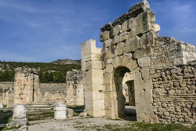 Vista del interior del martyrium