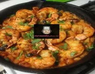Shrimp casserole with curry sauce