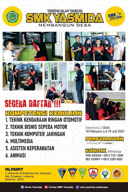 Download Desain Banner Promosi SMK Yasmida Ambarawa Jurusan TKJ