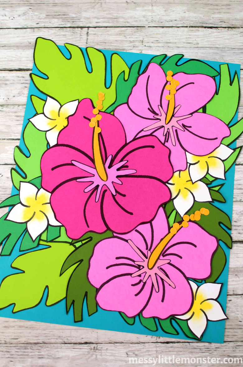 Tropical paper flower craft