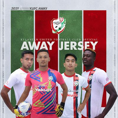 Jersi Away Kelantan United FC 2021