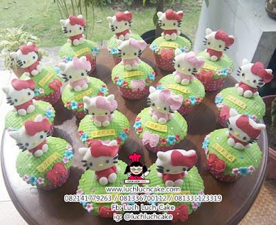 Souvenir Ulang Tahun Cupcake Hello Kitty