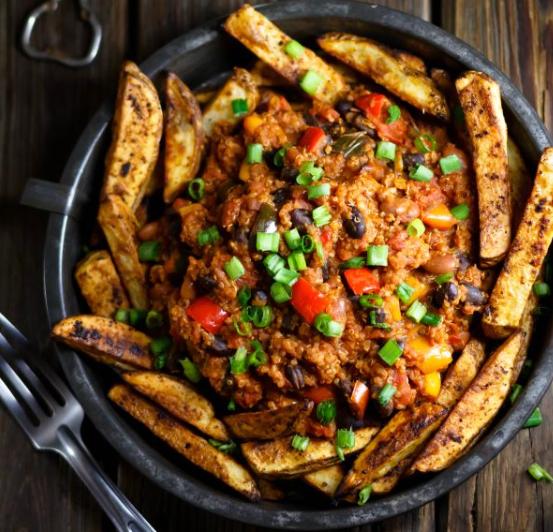 American Quinoa Chili Fries