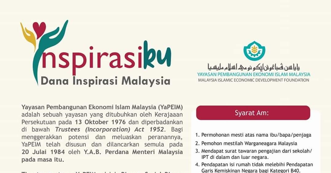 Borang Inspirasiku Yapeim 2020 Dana Inspirasi Malaysia Spa
