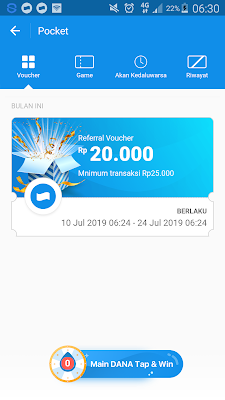 Bukti Voucher dari Aplikasi Dana