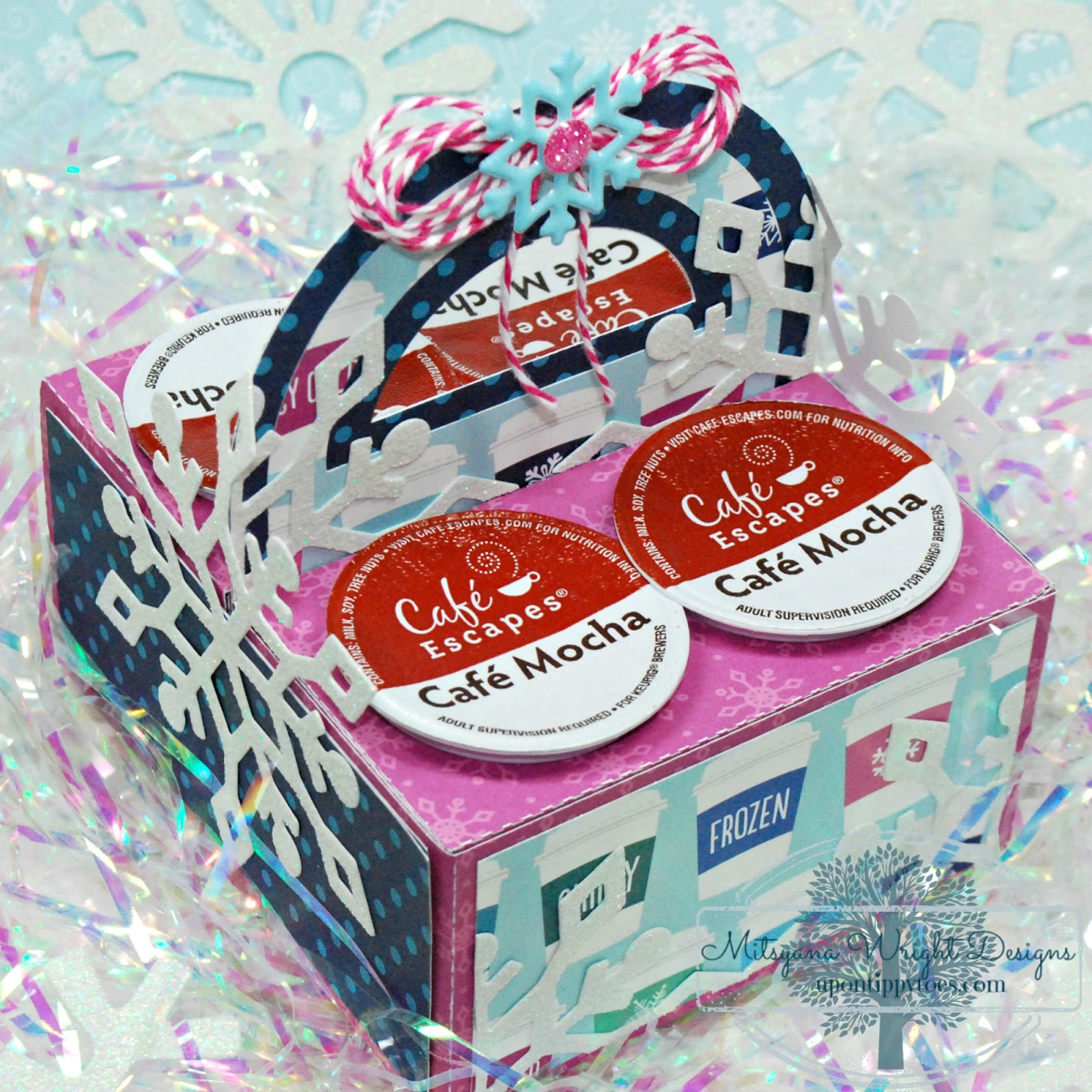 Up On Tippy Toes: Kcup Caddy Gift Box - w/ Free SVG Template Download