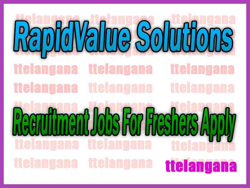 RapidValue Solutions Recruitment Jobs For Freshers Apply
