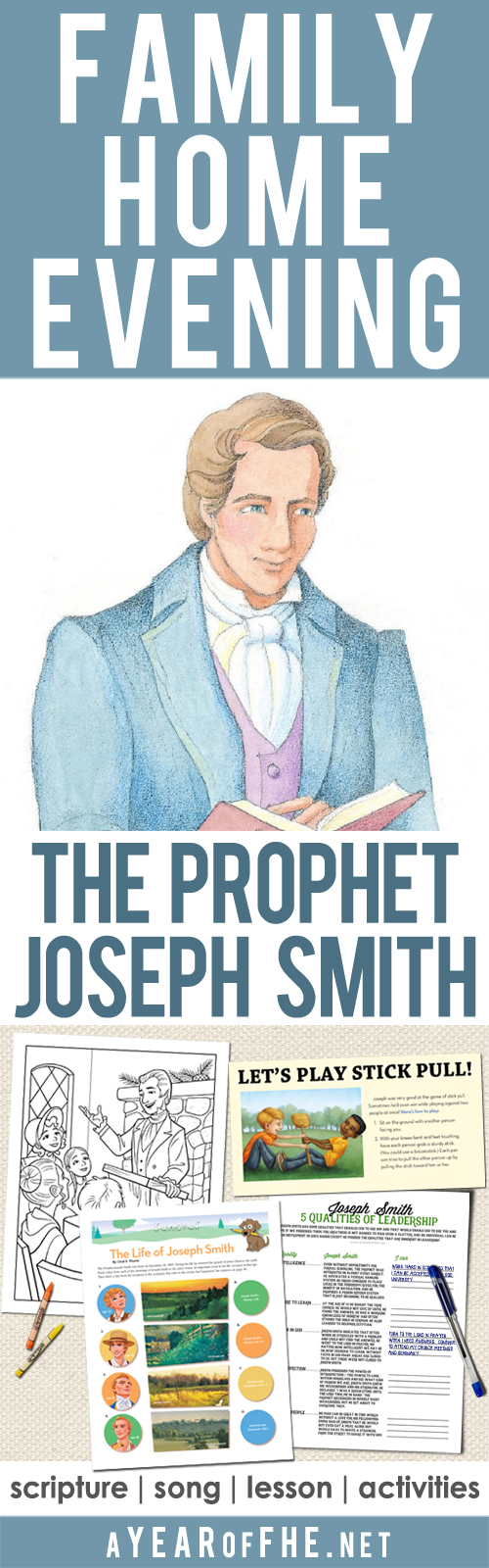 a year of fhe year 02 lesson 06 joseph smith 1st latter day prophet