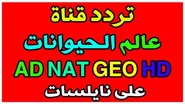 تردد قناة عالم الحيوانات AD NAT GEO HD على النايلسات الجديد