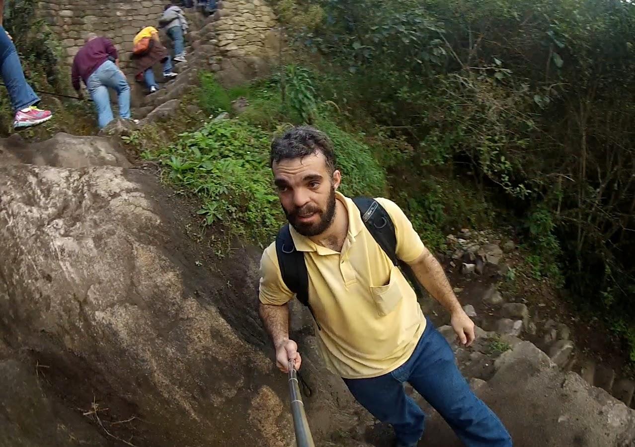 Subida cansativa do monte Huaynapichu.