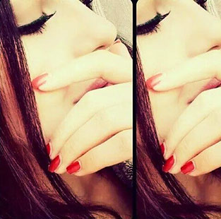 girl covering face dp