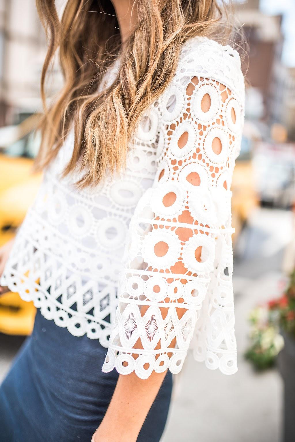Merrick's Art White Lace Top