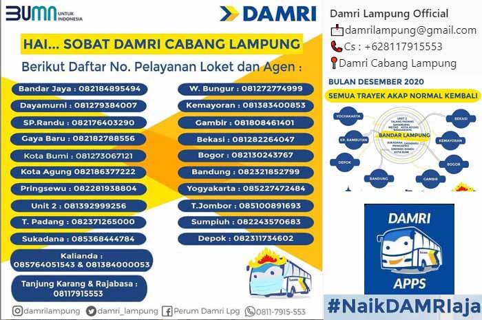 Harga Tiket Damri Lampung Jakarta 2021 (TERBARU)