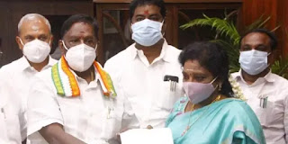 Puducherry Chief Minister V Narayanasamy resigns