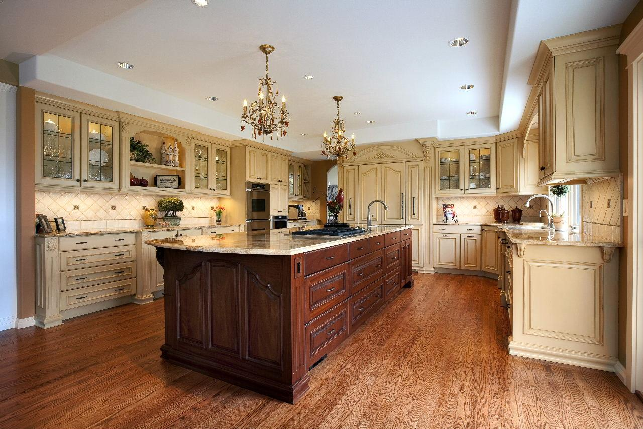 Different Color Cabinets In Kitchen