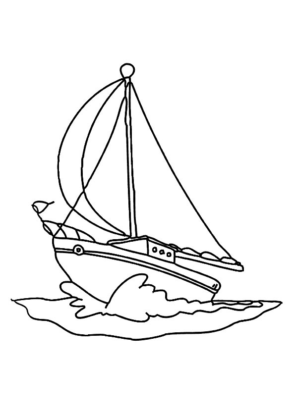 Free Coloring Pages Printable: Boat Coloring Pages