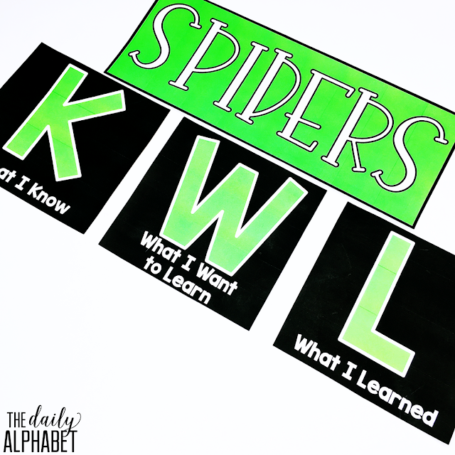 Spider craft and activities for the primary classroom that are easy to prep and implement!