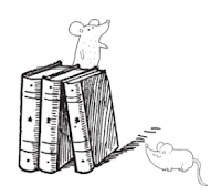 Amber's Book Review Library Mice Divider ©BionicBasil®