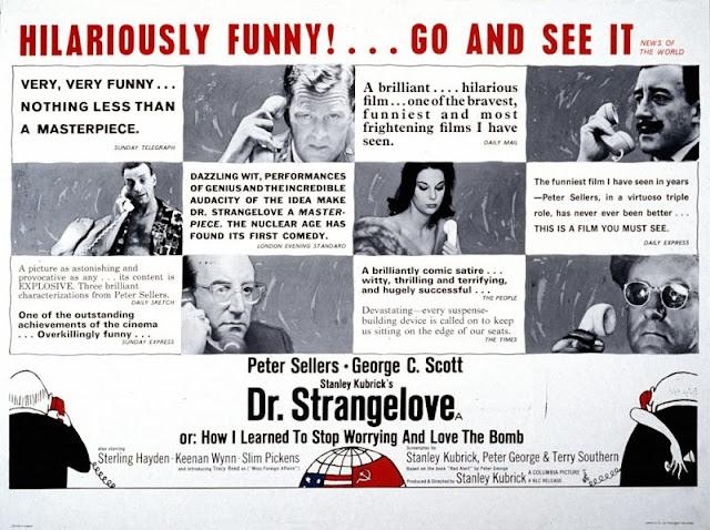 British press advert for Dr. Strangelove