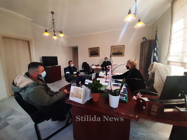 Συνάντηση της Δημάρχου Στυλίδας, Βιργινίας Στεργίου, με αντιπροσωπεία μελών Αγροτικών Συλλόγων
