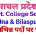 हिमाचल प्रदेश के विभिन्न कॉलेजों में भर्ती