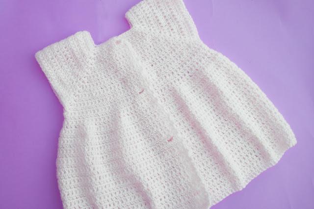 3 - Crochet Imagen Proyecto de abrigo a crochet y ganchillo Majovel Crochet bareta puntada punto sencillo facil DIY canesu manga