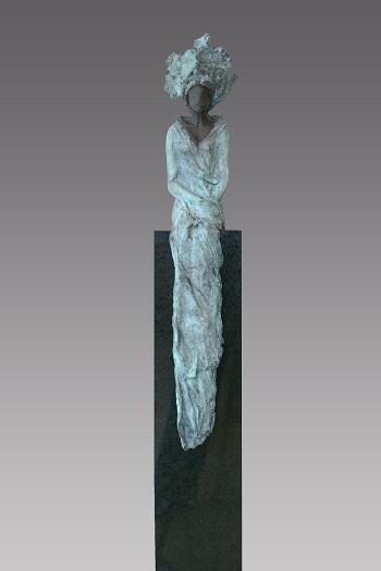 "Kieta Nuij - ""La Reine"" | imagenes de obras de arte contemporaneo tristes, esculturas bellas chidas | figurative art, sculptures | kunst"