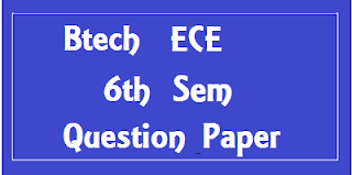 BTech ECE 6th Sem Previous Question Papers Mdu