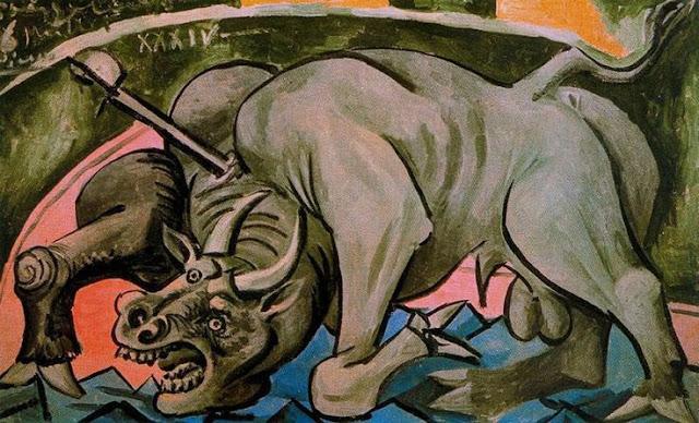 touro morrendo pablo picasso