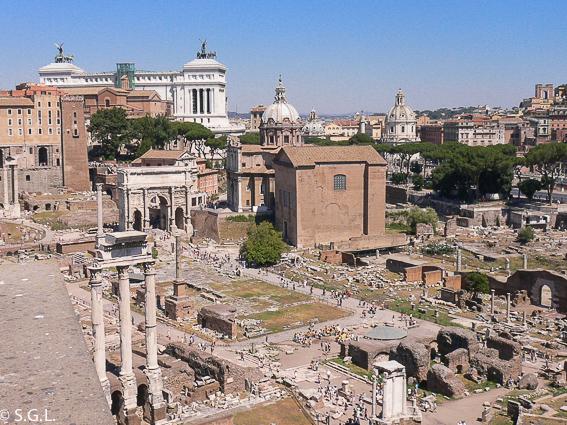 Foro romano y el palatino. Roma